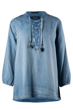 Maison scotch 100243 Blouses en tunieken Blauw | Jeroen Beekman damesmode