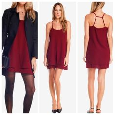 💥Host Pick💥 Gorgeous marsala red dress Adorable Marsala colored dress. Loose yet flattering with an A-line silhouette and a tiered hem with a cutout triangle design in the top tier. No PP or trades. RD Style Dresses