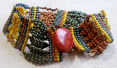 Made from Diane Fitzgerald's Yao necklace pattern http://imgbox.com/aborR3NL    SOLD