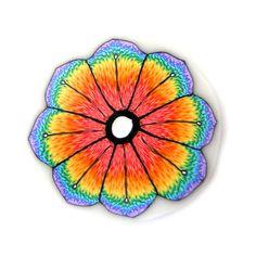 Millefiori Rainbow Flower by RolyzCreations, $7.20