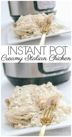 This Instant Pot creamy Italian chicken is bursting with delicious flavors that the whole family will love! This one pot meal is so simple to make and tastes great. My husband said it's his favorite meal.   gluten free chicken recipes   gluten free instan Instant Pot Pressure Cooker, Pressure Cooker Recipes, Slow Cooker, Pressure Cooking, Gluten Free Recipes For Dinner, Dinner Recipes, Drink Recipes, Creamy Italian Chicken, Tuscan Chicken