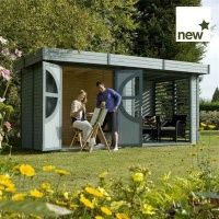 IN STOCK: best prices on x Deluxe Connor Painted Log Cabin x - choose between 0 Wooden shed Indoor Outdoor, Outdoor Living, Outdoor Decor, Log Cabin Sheds, Log Cabins, Tongue And Groove Cladding, Metal Storage Sheds, Corner Sheds, Garden Lodge