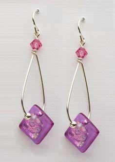Fused Glass Earrings, Barbara DeVeer, DeVeer Designs
