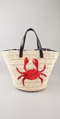 Crabby Beach Tote by Felix Rey   I want this for beach trips!