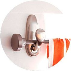 Hang curtain rods with large Command hooks. How have I never thought of this before??