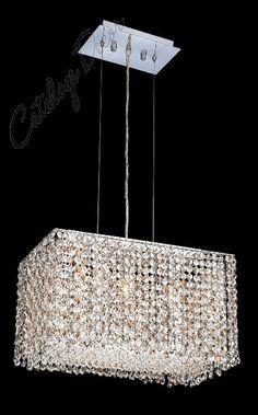 Modern Crystal Chandelier Rectangular | Stunning rectangular formed crystal chandelier lighting fixtures ...