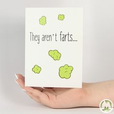 They aren't Farts Funny Greeting Card MemoryTag Greeting Cards