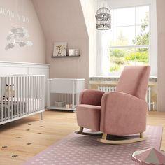 Sillón mecedora de lactancia Amy (1) Girl Room, Baby Room, Fancy Houses, Baby Nursery Decor, Having A Baby, Rocking Chair, Sofa, Indoor, Interior Design