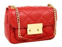 MICHAEL Michael Kors Sloan Small Quilted Shoulder Flap, Red From MICHAEL Michael Kors - Bags or Shoes Shop