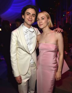 Timothée Chalamet in Berluti and Saoirse Ronan in Calvin Klein By Appointment