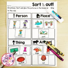 Sort nouns - person,