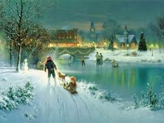 Image detail for -Christmas Scene - Free Wallpapers - #24791