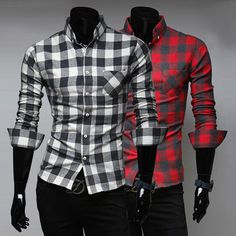 Plaid Pattern Men's Dress Shirt . Shop Now At http://sneakoutfitters.com/collections/new-in/products/ao-cbcy-hw-7603-so43