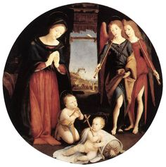 Piero di Cosimo - The Adoration of the Christ Child - Adoration, 1505 Galerie Borghèse