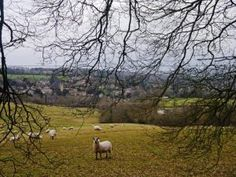 Heart of England Way in the Cotswolds: Looking back on Blockley