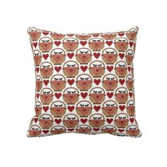 Picnic Ant Pattern throw pillow