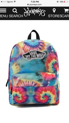 """Vans tie dye backpack """"backpack #vans #travel #bookbag #offthewall Stylish Backpacks, Cute Backpacks, School Backpacks, Vans Backpack, Jansport Backpack, Backpack Bags, 6th Grade School Supplies, Estilo Converse, Tumblr Outfits"""