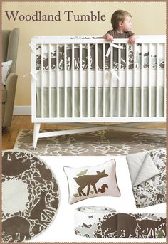 DwellStudio Woodland Tumble Crib Set. LOVE this set and want it. Perfectly gender neutral and simplistic.