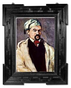 """""""Portrait of a Man in a Blue Cap ART  Print by Paul Cezanne Posters-Print.com"""" by posters-print ❤ liked on Polyvore featuring Cezanne, wallart, FineArtPrint, wallposter and postersprint"""