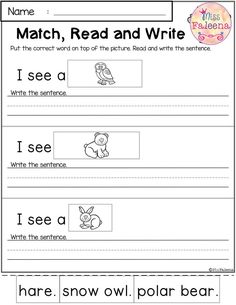 January Reading and Writing Practice January Reading and Writing Practice. This Product has 20 pages of reading and writing practice. This product is great for Kindergarten or f Teaching Kindergarten, Kindergarten Worksheets, Teaching Reading, Classroom Activities, Teaching Kids, Preschool, Learning, First Grade Worksheets, Technology Lessons