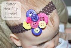 Button Hair Clip Tutorial
