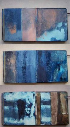 Paintings with textures like dyed fabric.  Could you dye the fabric then stretch it.  Cotton canvas