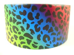 Rainbow Leopard Duct Tape One Roll of Printed Duct Tape Colors, Duct Tape Flowers, Paper Flowers, Birthday Gifts For Teens, Teen Birthday, Birthday Parties, Painting Canvas Crafts, Duck Tape Crafts, Wallet Tutorial