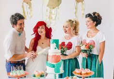 The POPSUGAR Hipster Little Mermaid Wedding Photo Shoot, featuring two of my fave Disney cosplayers, Traci Hines and Leo Camacho.