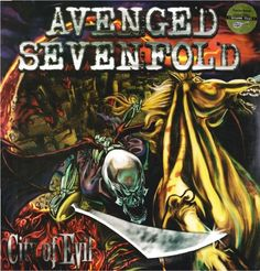 Avenged Sevenfold - City of Evil (2 LP)-Sealed-New Record on Vinyl Track Listing - Beast And The Harlot - Burn It Down - Blinded In Chains - Bat Country - Trashed And Scattered - Seize The Day - Sidew