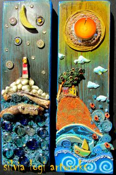 #WOOD #SEASCAPES #MOSAIC SEE MORE ON MY FB https://www.facebook.com/pages/Silvia-Logi-Artworks/121475337893535?fref=ts