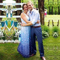 This beautiful bride got her something blue in! | #DRESSBAR