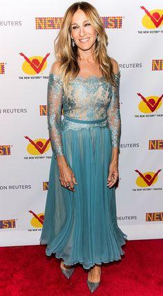 Sarah Jessica Parker in an ice blue dress