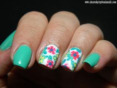 Mint Floral Print