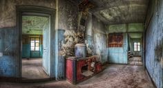 The old Zinc-Pot. - That's how they cooked over 150 years ago A small Kitchen Panorama of the old house from the small hydroelectric power station... I hope you like it and I wish you a nice evening