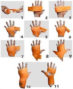 Learn how to wrap your hands when training in Muay Thai Kickboxing to protect… Muay Thai Hand Wraps, Boxing Hand Wraps, Judo, Taekwondo, Kung Fu, Boxe Fitness, Boxe Fight, Kickboxing Workout, Kickboxing Women