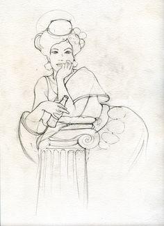 disegno per etichetta Polara linea vintage. © 2009 Andrea Baglieri boma studio