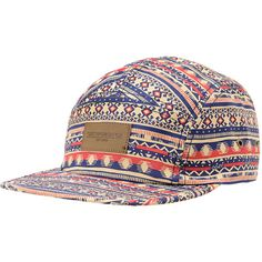 Put on your vacation hat just in time for spring break with the Marrakesh tan 5 panel strapback hat from Obey. This hat comes in a tank colorway, and features a flexible 5 panel construction, red and blue tribal print detail allover, and an Obey patch stitched at the front for brand style. Soak up some sun and have some fun in the Marrakesh tan strapback hat from Obey.