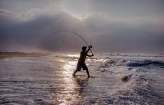 Suggested baits, rigs, and techniques to catch surf fish like red drum, bluefish, and striped bass.