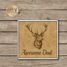 Awesome DAD Drink Coasters Father's Day by SRVintageandDesigns