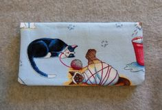 Fabric Checkbook Cover - Playful Kitties (10.00 USD) by BonniesSewCrazy