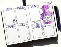 Creative Inspiration: Bullet Journal Weekly Spread Ideas. Cheshire Cat Bujo Weekly. Planner Meets Art