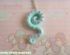 Tentacle Necklace polymer clay octupus japanese by MadeByVirginiaM