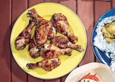 Grilled Lemon-Oregano Chicken Drumsticks. No garlic. Cooked at 450 for 40 minutes. So good! Served with Greek Salad sans red onion. #lowFODMAP