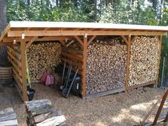 Stylish Wood Shed Design Wood Shed Design - This Stylish Wood Shed Design gallery was upload on March, 21 2018 by Erwin Shields. Here latest Wood Shed Design gallery collectio. Storage Shed Kits, Wood Storage Sheds, Storage Ideas, Firewood Shed, Firewood Storage, Stacking Firewood, Wood Shed Plans, Wood Store, Shed Design