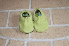 Soft sole baby shoes.