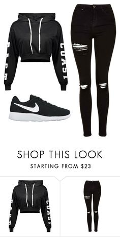 """Untitled #508"" by cuteskyiscute on Polyvore featuring Topshop and NIKE"
