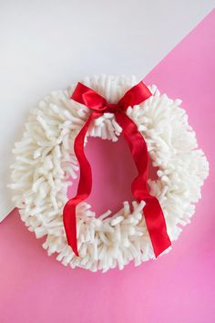 DIY Yarn Wreath  - A