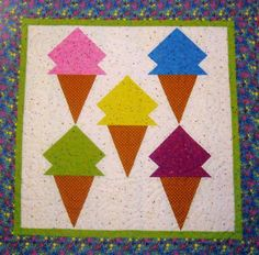 16 Best Ice Cream Cones Images Ice Cream Quilts