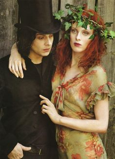 hotography by Annie Leibovitz  Husband and wife Jack White and Karen Elson