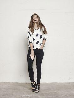 MOS MOSH // Robin Dot Blouse - Athena Super Skinny Jeans